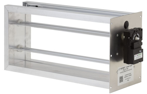 ZDSP & ZDBP - Rectangular and Square Bottom and Side Mount Plug-In Zone Damper